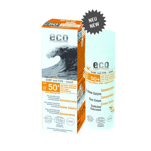 Eco Cosmetics Sonnencreme Surf & Fun 50 ml LSF 50+ getönt
